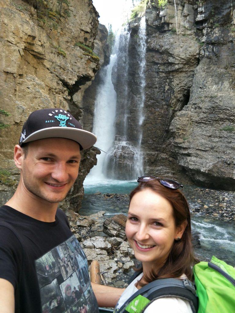 Oberer Wasserfall Johnston Canyon