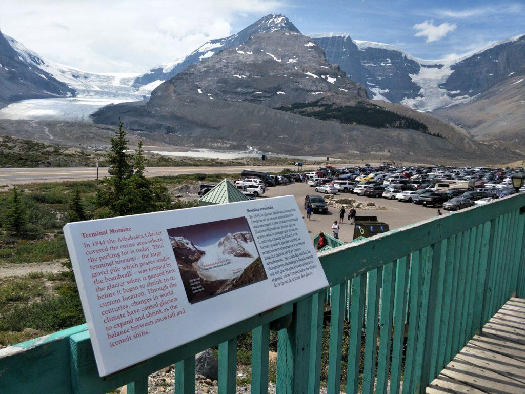 Athabasca Gletscher damals